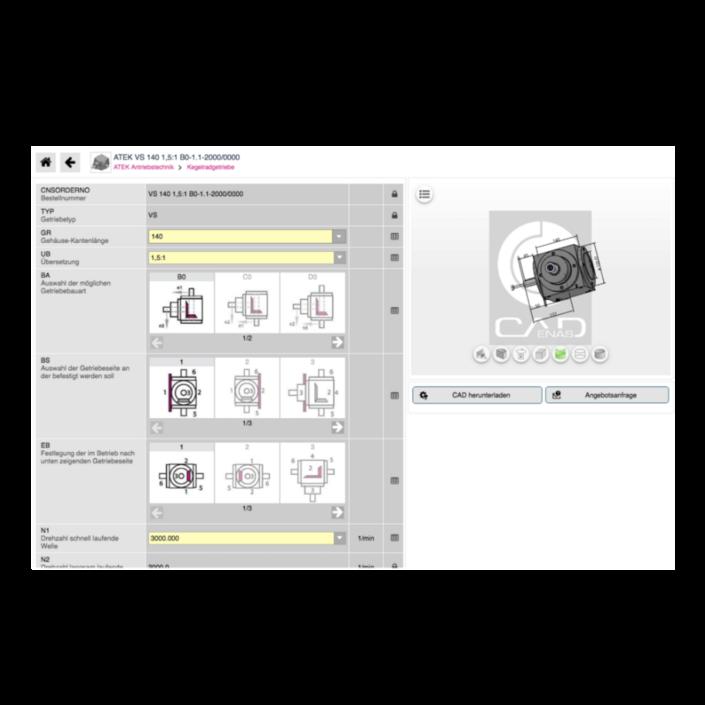 ATEK Onlinekonfigurator